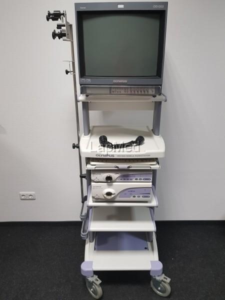 Endoskopieturm Videoprozessor Olympus CV-160 Lichtquelle CLV-180